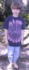 front of spiderweb mandala discharged shirt